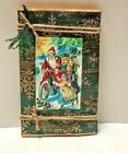 CHRISTMAS SCENTED VICTORIAN HOLIDAY CHILDREN Handmade Journal/Country/Christmas