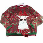 Llama with Scarf Sunglasses Ugly Christmas Sweater Mens Adult 2XL