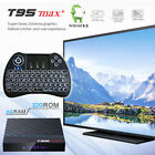 Android 9.0 T95 MAX 8K HDR 32GB Bluetooth WiFi TV Box Backlit Keyboard Remote