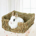 Grass Woven Guinea Pig Rabbit Hamster Bed Mat Straw Nest Cage Pet Toys Pad Bump