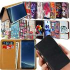 For Samsung Galaxy A8 A9 A10 Flip Leather Card Wallet Stand Cover Phone Case