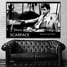 #38 Scarface Who Do I Trust? Me! Movie Poster Canvas Ready to Hang Framed