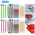 18Pcs/set Polymer Clay Modeling for Pottery Sculpting Tools Ball Stylus Kit image