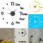 Modern DIY Large Wall Clock 3D Mirror Number Sticker Home Decor Art Design Kit