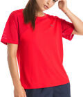 Puma A.C.E. Mesh Blocked Short Sleeve Womens Training Top - Red
