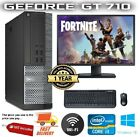 Cheap Fast Fortnite Gaming Pc Dell/lenovo Computer Desktop 8gb 500gb Gt710 Win10