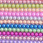 Glass Pearl Round Beads With Hole For Jewelry Making Crafts 3/4/6/8/10/12/14 Mm