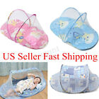 Baby Infant Foldable Mosquito Crib Travel Bed Net Tents Cotton US US!