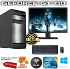 CHEAP Fast Quad Core Gaming PC + Monitor Bundle 8/16GB RAM 500GB HDD Computer
