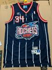 Hakeem Olajuwon Houston Rockets #34 Navy Pinstripe Rocket Throwback Mens Jersey on eBay