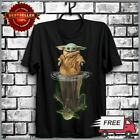 FREESHIP Baby Yoda And Master Yoda Water Reflection Star Wars T-Shirt Black Tee $21.99 USD on eBay
