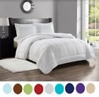 8 Piece Bed-In-A-Bag Hotel Dobby Embossed Comforter Sheet Bed Skirt Sham Set NEW image