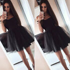 Women Formal Evening Party Cocktail Prom Bridesmaid Short Tutu Tulle Dress