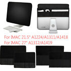 Screen Sleeve Leather Protective Dust Cover Case for Apple IMAC 21.5'' 27''