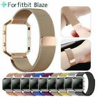 For Fitbit Blaze Watch Stainless Steel Loop Strap Wrist Band+ Frame Replacement image