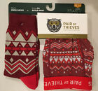 NEW PAIR OF THIEVES Super Fit Boxer Briefs + Crew Socks - S M L XL - Red Gray