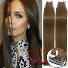 Russuan Real Tape In Human Hair Extensions Skin Weft Ombre Dark Blonde Brown UK