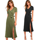 Women/'s Fashion long sleeve Backless Backless Slip Long Maxi Dress N113