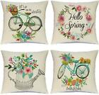 Hlonon Spring Pillow Covers 18 X 18 Inches Set Of 4 - Spring Series Cushion Cove