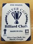One Box (12 Cubes) Silver Cup Pool Cue Stick Chalk for Billiard Snooker $6.99 USD on eBay