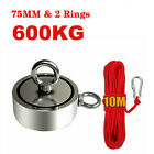 500KG Pull Salvage Strong Recovery Magnet Fishing Treasure Neodymium with Rope
