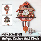 Antique Vintage Cuckoo Clock Forest Wall Clock Room Decor Wood Home Office US