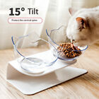 Pet Cat Dog Double Bowls with Raised Stand Food Water Bowl Feeder Supplies