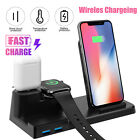 10W QI Wireless Charger 3in1 Fast Charging Station Dock Stand For iPhone Samsung