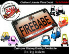 Custom License Plate Decal Sticker Fits Little Tikes Cozy Coupe Car Firetruck