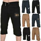 Mens Chino Shorts Twill Cotton Summer Casual Half Pants Cargo Combat Trousers UK