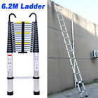 6.2m Telescopic Folding Extendable Extension Ladder Multi Purpose Steps 20.3ft