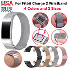 For Fitbit Charge 2 Wristband Metal Stainless Milanese Magnetic Loop Band Strap image