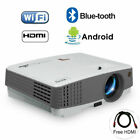 Smart Home Video Projector 1080p Android WIFI Blue-tooth Online TV Games HDMI US
