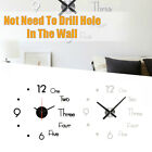 Modern Design Large Quartz Wall Clock Wall Sticker Clock Silent Home Decor Gift