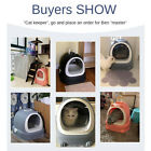Cat Litter Box with Lid Large with Scooper Cat Litter Pan Igloo Solide