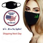 Unisex Face Mask, Black,washable, Reusable, Made In Usa, 3 Layers, 80 Designs