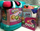 Shopkins Twin and Full Sheet Set, 62 x 90 Plush Throws and Shower Curtains NIP