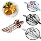 4/8/16/24x Colorful Stainless Steel Fork Spoon Knife Teaspoon Modern Cutlery Set