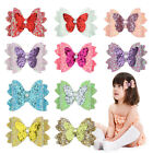 Kids Glitter Sequins Butterfly Bowknot Faux Pearl Hairpin Hair Clip Novelty