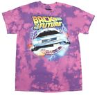 Officially Licensed Purple Tie Dye Back To The Future Graphic Tee T-Shirt New image
