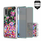 For LG Stylo 6 Water Glitter TPU Cover Case + Tempered Glass