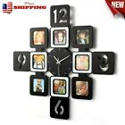 Large Photo Frame Wall Clock Hanging Picture Collage Display Home Office Decor