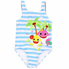 Baby Shark Striped One Piece Toddlers Swimsuit Multi-Color