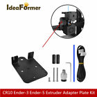 1 Set Extruder Adapter Plate Upgrade Kit For Cr10 Ender-3, 5 Direct Drive Plate.