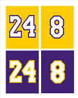 Los Angeles Lakers SIGN # 8 # 24, NBA basketball jersey card, Free Shipping Kobe on eBay