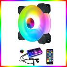 RGB LED Quiet Computer Case PC Cooling Fan 120mm with 1 Remote Control 12 V