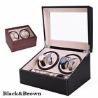 Kyпить 4+6 PU Automatic Rotation Watch Winder Leather Storage Display 12'' Black&Brown на еВаy.соm