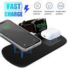 10W Wireless Qi Charger Dock For iPhone iWatch Fast Charging Pad Stand Station