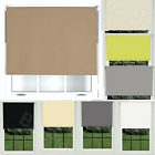 Blackout Roller Blinds Thermal Plain Colored Fabric UV-resistant Trimmable Blind