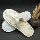 Portable Tree Leaf Print Closed Toe Slippers Hotel Travel SPA Shoes Novelty